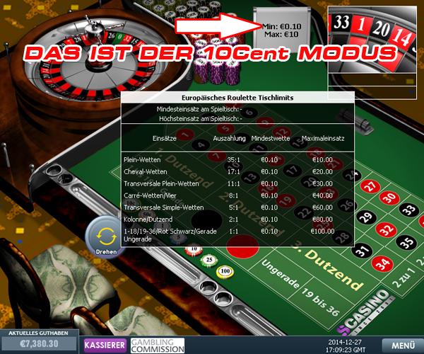 Online casino roulette 1 cent
