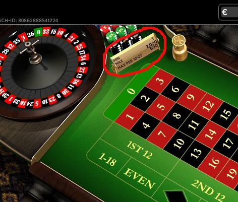 online casino roulette tischlimit