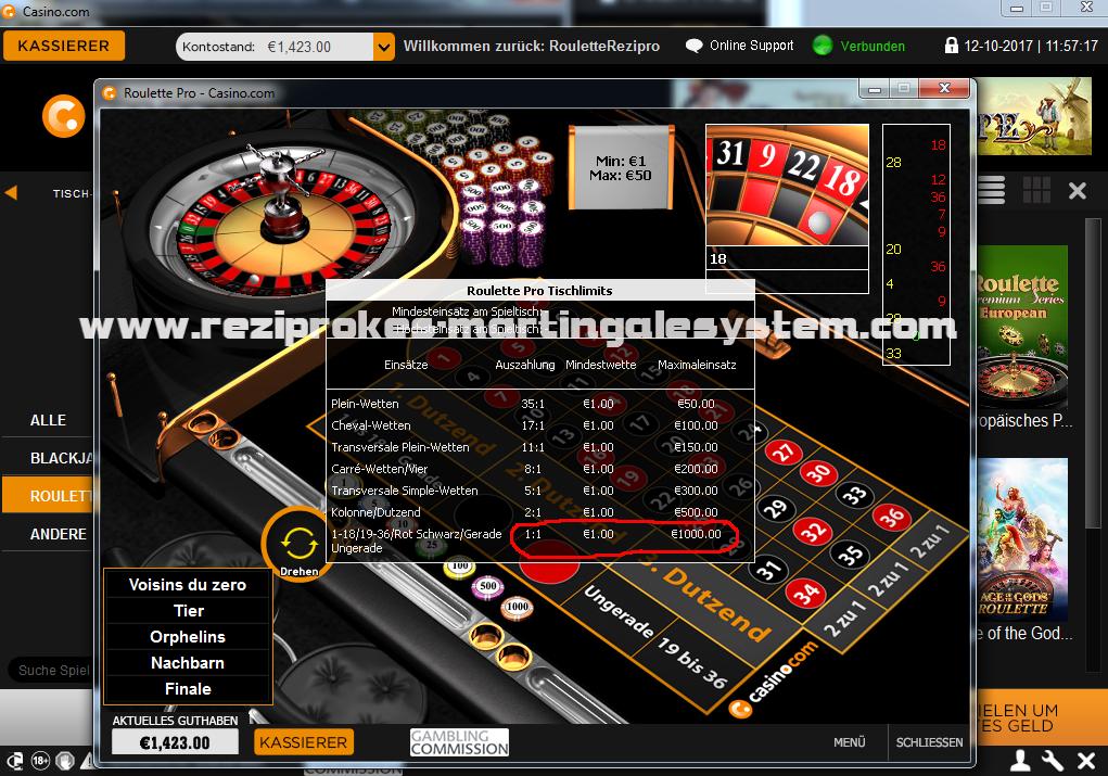 Casino roulette verdoppeln erlaubt