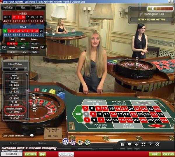 geld verdienen mit live roulette